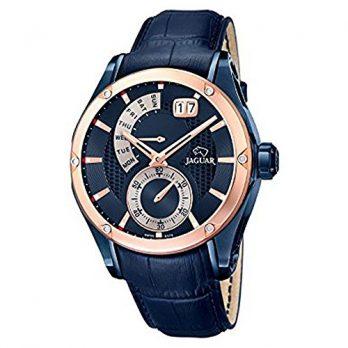 Jaguar Uhr   Herrenuhr  jaguar    blaue lederarmbanduhr   herrenuhr dunkelblau   dunkelblaue armbanduhr