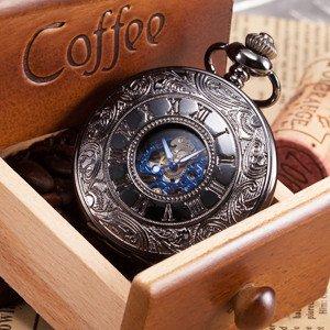 Taschenuhr | schwarze mechanische Taschenuhr