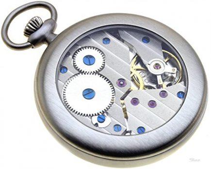 Taschenurh | Silberne klassische Taschenuhr