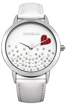 Morgan Uhr | Armbanduhr Morgan | Damenuhr Morgan | weiße lederarmbanduhr damen | damenuhr weiß