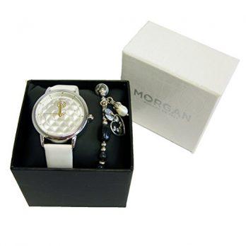 Silber Armbanduhr Damen | Weiße Leder Armbadnuhr Damen