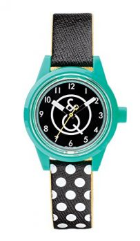 armbanduhr solar | kinderuhr | damenuhr | schwarz-grüne armbanduhr