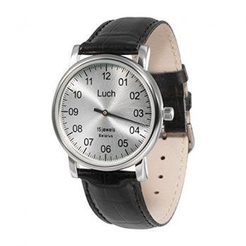 silberne mechanische armbanduhr   armbanduhr mechanisch