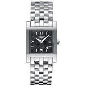 Longines Uhr   Armbanduhr Longines   Damenuhr Longines   edelstahl damen uhr   damenuhr mit schwarzem ziffernblatt