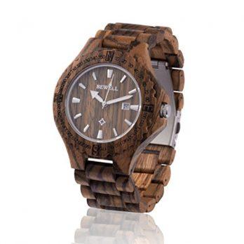 holzuhr | armbanduhr holz zebraholz
