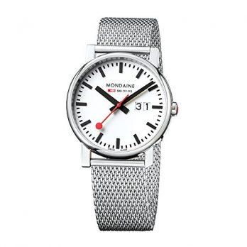Mondaine Uhr | Armbanduhr Mondaine | Herrenuhr Mondaine | Edelstahl herrenuhr | armbadnuhr mit datumanzeige