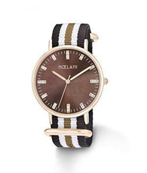 NoelaniUhr | Armbanduhr Noelani| Damenuhr Noelani | Damenuhr mit textilband | armbanduhr mit textilband | braune damenuhr | armbanduhr braun