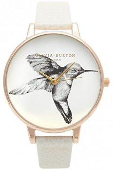 Olivia Burton Uhr | Armbanduhr Olivia Burton | Damenuhr Olivia Burton | Damenuhr weiß | weiße armbanduhr | creme Armbanduhr | armbanduhr mit vogelmotiv