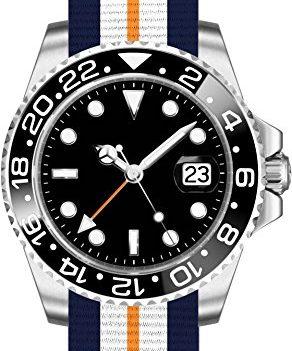 Parnis Uhren | Armbanduhr Parnis | Herrenuhr Parnis | Herrenuhr mit Textilarmband | Textilarmbanduhr