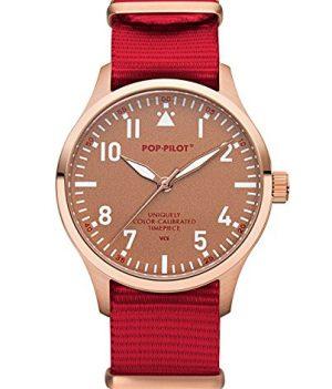 Pop-Pilot Uhr | Armbanduhr Pilgrim | Rote Armbanduhr | armbanduhr rot mit nylon