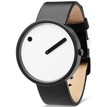 Rosendahl Uhr | Armbanduhr Rosendahl | Schwarze Lederarmbanduhr