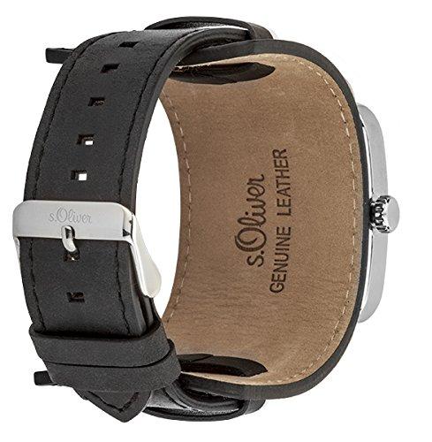 s oliver herren armbanduhr analog quarz leder so 3048 lq. Black Bedroom Furniture Sets. Home Design Ideas