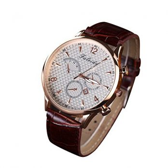Analog Armbanduhr | Herren Armbanduhr Leder | Leder Braun Armbanduhr