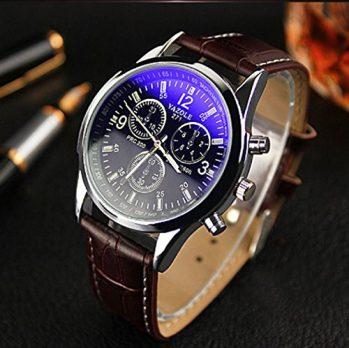 Analoge Armbanduhr | Leder Armbanduhr Analog | Herren Analog Armbanduhr