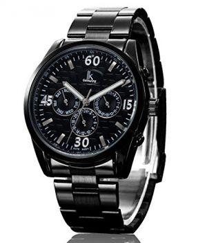 schwarze mechanische armbanduhr | armbanduhr mechanisch schwarz