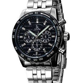 Automatikuhr | Armbanduhr Automatik schwarz silber | schwarze silberne Automatikarmbanduhr