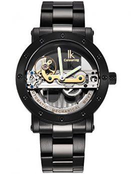 Automatikuhr | schwar-silber Armbanduhr Automatik | wasserdichte Automatikuhr