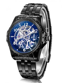 Alienwork IK Uhren | Armbanduhr schwarz edelstahl