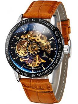 armbanduhr Alienwork Uhren | Leder braun armbanduhr