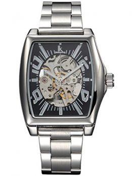 Alienwork IK Uhren | schwarz silber armbanduhr |  armbanduhr edelatahl