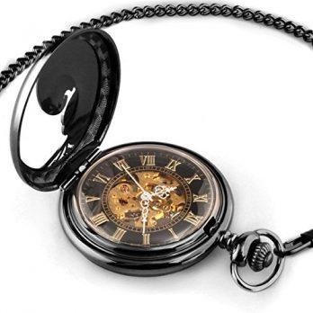 Taschenuhr | Handaufzug Taschenuhr | schwarz-metall Taschenuhr