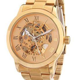 gold-metall armbanduhr | mechanische armbanduhr gold