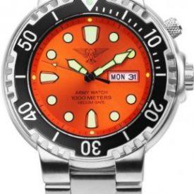 taucheruhr   armbanduhr für taucher   edelstahlband armbanduhr   orange armbanduhr
