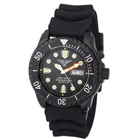 taucheruhr   armbanduhr für taucher   schwarze armbanduhr   silikonband armbanduhr