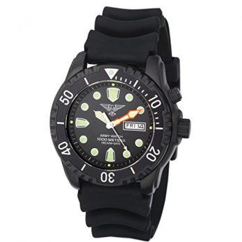 taucheruhr | armbanduhr für taucher | schwarze armbanduhr | silikonband armbanduhr