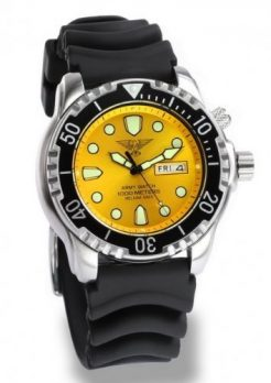 taucheruhr | armbanduhr für taucher | gelbe armbanduhr | silikonband gelb armbanduhr