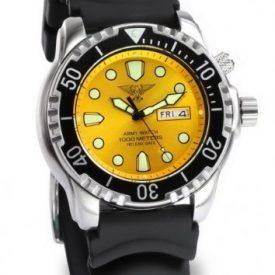 taucheruhr   armbanduhr für taucher   gelbe armbanduhr   silikonband gelb armbanduhr