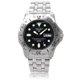 taucheruhr   armbanduhr für taucher   silberne armbanduhr