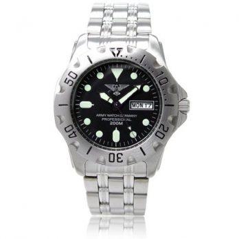 taucheruhr | armbanduhr für taucher | silberne armbanduhr