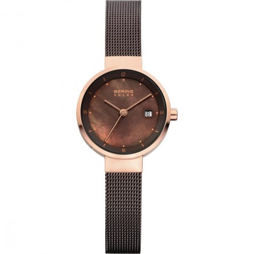 solaruhr   armbanduhr mit solarfunktion   braun goldenfarbige armbanduhr
