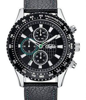 buffalo armbanduhr | herren armbanduhr | multifunktionsuhr schwarz