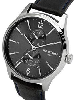 Ben Sherman Uhr | Herren armbanduhr mit schwarzem lederband