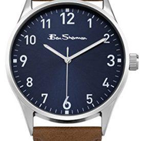 Ben Sherman Uhren   Herrenuhr blau braun   blaues ziffernblatt herren armbanduhr