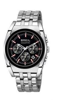 Breil armbanduhr | Herrenuhr mit schwarzem Ziffernblatt | silber edelstahl armbanduhr