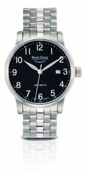 Bruno Söhnle Uhren | herrenuh mit schwarzem ziffernblatt