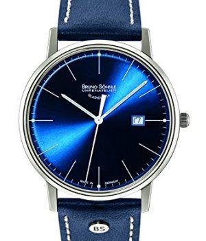Bruno Söhnle Uhren | herrenuhr blau | blaue armbanduhr herren | blaues ziffernblatt herrenuhr | blaue lederarmbanduhr