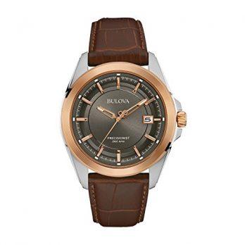Bulova Uhr | Herrenarmbanduhr | Lederarmband Braun leder herrenuhr