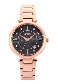 Christ Uhr | Damenuhr Christ | Damenuhr rosé braun