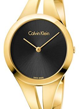 Calvin Klein Uhren | Goldfarben Armbanduhr | Damenuhr Goldfarben
