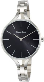 Calvin Klein Uhren | Calvin Klein Damenuhr | Armbanduhr mit schwarzem Ziffernblatt