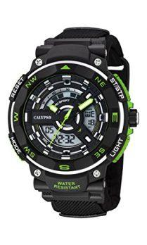 Calypso Uhren | Schwarze Kunststoff armbanduhr