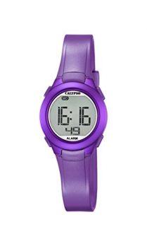 Calypso Uhren | Armbanduhr Lila | Digital Ziffernblatt Armbanduhr | Kunststoff Armbanduhr