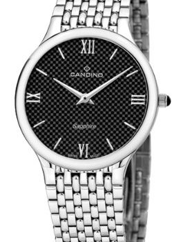 Candino Uhren   Herrenarmbanduhr edelstahl   Silber-schwarz Armbanduhr