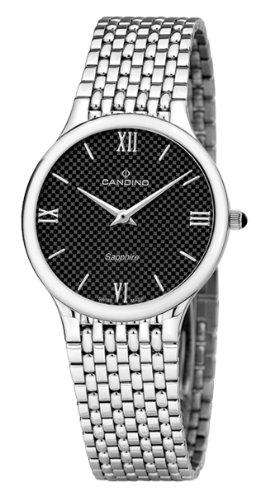 Candino Uhren | Herrenarmbanduhr edelstahl | Silber-schwarz Armbanduhr