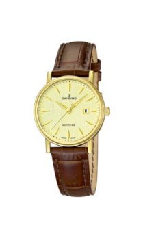 Candino Uhren | Damenarmbanduhr mit braunem lederband