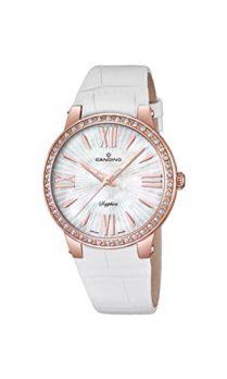 Candino Uhren | Damenuhr weiß | damenuhr mit weißem Ziffernblatt | armbanduhr damen mit leder